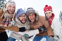 lycklig ferievinter Fotografering för Bildbyråer