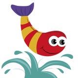 Lycklig fisk Arkivfoto