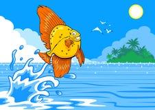 Lycklig fisk Royaltyfri Foto