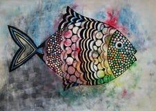 lycklig fisk Arkivbild
