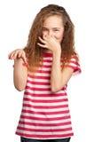 lycklig flicka Fotografering för Bildbyråer
