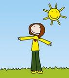 lycklig flicka stock illustrationer