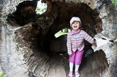 Lycklig flicka Arkivfoton