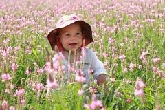lycklig flicka little Arkivbild