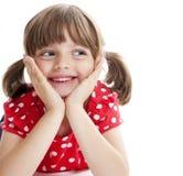 lycklig flicka little royaltyfria bilder