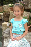 lycklig flicka little Royaltyfria Foton
