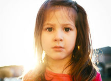 lycklig flicka little Royaltyfri Foto