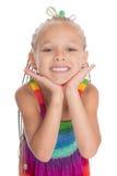lycklig flicka little som ler Arkivbilder