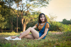 Lycklig flicka Thailand Royaltyfria Foton