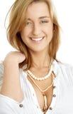 lycklig flickagreen för 2 ögon Arkivbilder
