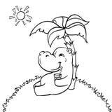 Lycklig flodhäst Royaltyfria Bilder