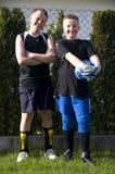lycklig fotboll för bollkallear Royaltyfri Fotografi