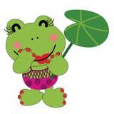 Lycklig fröcken Froggy Arkivfoto