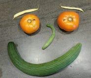 Lycklig framsida för grönsak Royaltyfri Foto