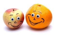 lycklig frukt Arkivbild