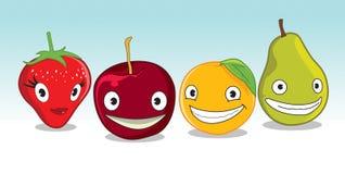 lycklig frukt Royaltyfria Bilder