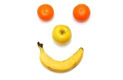 Lycklig fruktclown Arkivbild