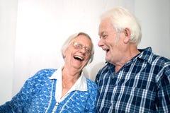 lycklig gamla människor Royaltyfri Foto