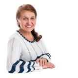 lycklig gammal ståendekvinna Royaltyfri Foto