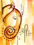 Lycklig Ganesh Chaturthi festivalberöm av Indien Royaltyfria Bilder