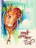 Lycklig Ganesh Chaturthi festivalberöm av Indien Royaltyfri Bild