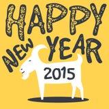 Lycklig get, kinesiskt nytt år 2015 vektor illustrationer