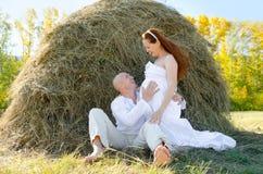 Förväntansfulla föräldrar Fotografering för Bildbyråer