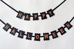 Lycklig girland för papper för halloween partisvart Royaltyfri Bild