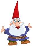 lycklig gnome Arkivfoto