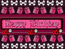 lycklig gotisk hälsning för födelsedagkort Fotografering för Bildbyråer