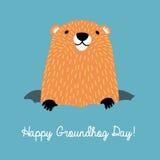 Lycklig Groundhog dag stock illustrationer