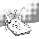 Lycklig Groundhog dag Bokstäverhälsning också vektor för coreldrawillustration Royaltyfria Bilder
