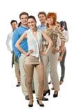 Lycklig grupp för folkaffärslag tillsammans Royaltyfria Bilder