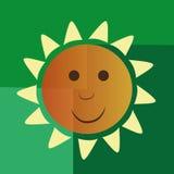 Lycklig gul sol Royaltyfri Foto