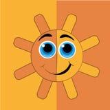 Lycklig gul sol Royaltyfria Foton