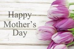 Lycklig hälsning för dag för moder` s Royaltyfria Foton