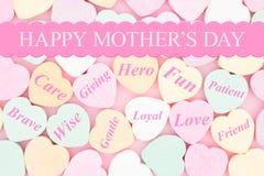 Lycklig hälsning för dag för moder` s av hur du att bry sig för henne Royaltyfria Foton