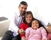 lycklig härlig familj Fotografering för Bildbyråer