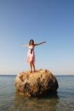 lycklig härlig flicka Royaltyfri Fotografi
