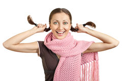 lycklig härlig flicka Fotografering för Bildbyråer