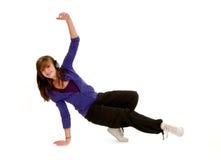 lycklig höftflygtur för dansare Royaltyfria Foton