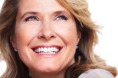 Lycklig hög kvinna. arkivbilder