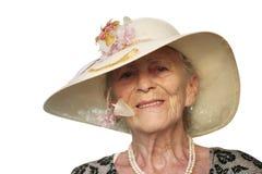 lycklig hög kvinna Arkivbild