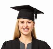 Lycklig högskolestudent Wearing Mortar Board Royaltyfria Foton
