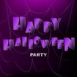 Lycklig halloween bakgrund med spiderweb Royaltyfri Fotografi