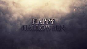 Lycklig halloween grungerök och ögla för brand 4K vektor illustrationer