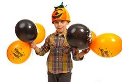 Lycklig Halloween pojke Royaltyfri Bild