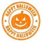 Lycklig halloween stämpel Arkivbilder