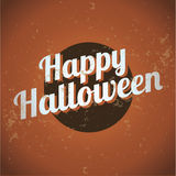 Lycklig halloween tappning Arkivbilder