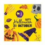 Lycklig halloween tecknad film royaltyfria bilder
